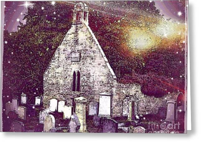 The Auld Kirk Alloway Scotland Greeting Card by Janet Fraser Mckinlay
