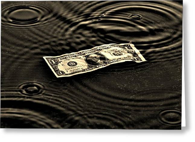 The Austerity Effect Greeting Card by Robert Geary