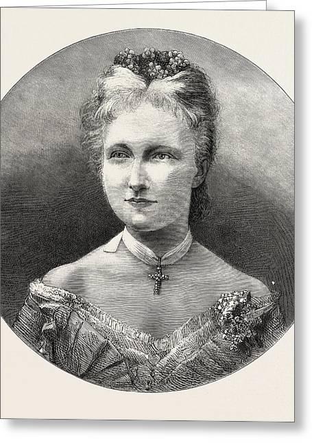 The Austrian Royal Marriage The Princess Stephanie Greeting Card