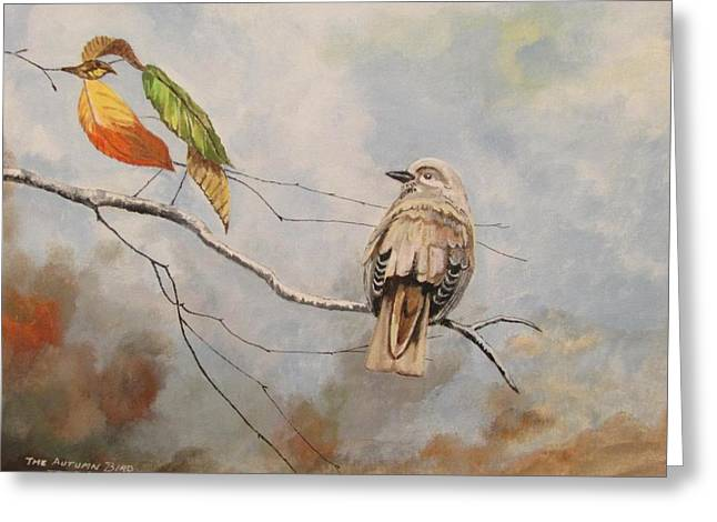 The Autumn Bird Greeting Card