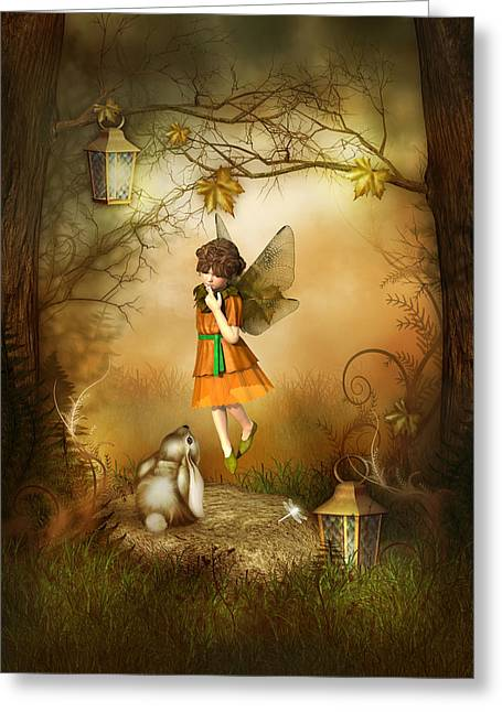 The Autumn Fairy Greeting Card by Jayne Wilson