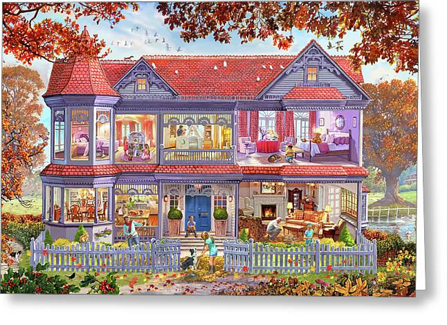 The Autumn House - The Fall Greeting Card