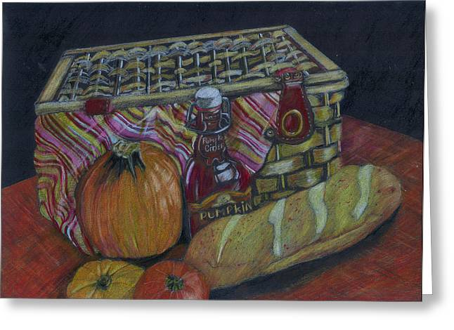 The Autumn Picnic Greeting Card by Candace  Hardy