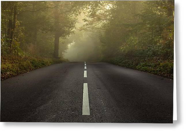 The Autumnal Road Greeting Card by Chris Fletcher