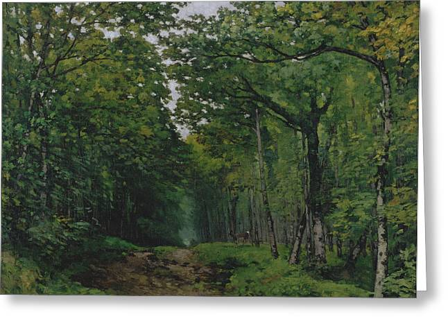 The Avenue Of Chestnut Trees At La Greeting Card