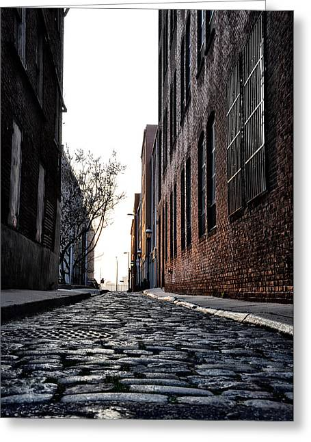The Back Alley Greeting Card by Bill Cannon