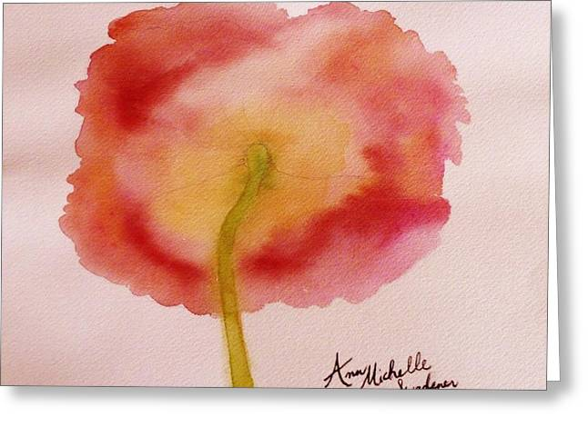 The Back Side Of A Poppy Greeting Card by Ann Michelle Swadener