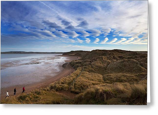 The Backstrand, Tramore, County Greeting Card by Panoramic Images