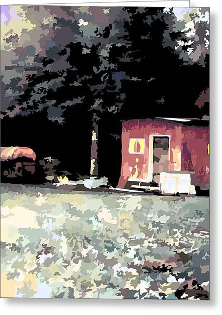 The Backyard Greeting Card