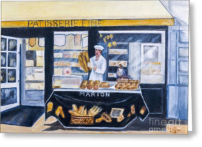 The Baker By Sandy Taffin Greeting Card