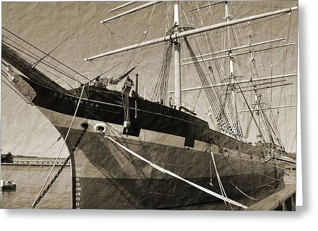 The Balclutha Greeting Card by Holly Blunkall