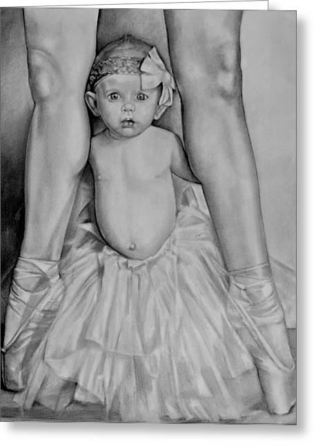 The Ballerina Greeting Card by Curtis James