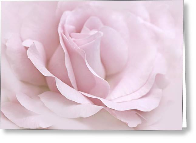 The Ballerina Pink Rose Flower Greeting Card by Jennie Marie Schell
