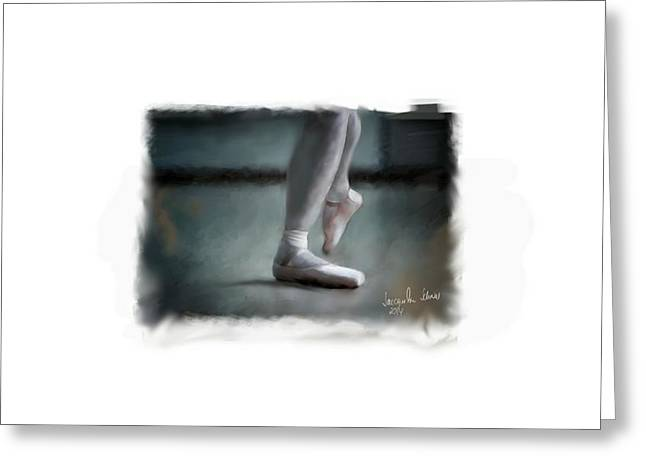The Ballet Shoes ....  Greeting Card by Jacqueline Schreiber