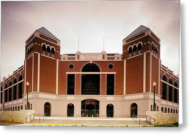 The Ballpark In Arlington Texas Greeting Card by Mountain Dreams