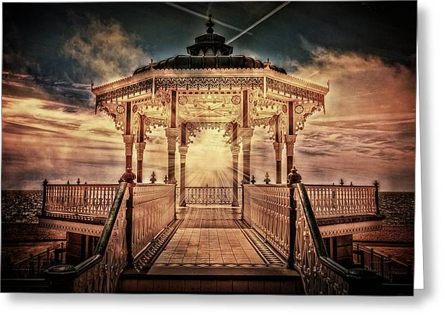 The Bandstand Greeting Card by Chris Lord