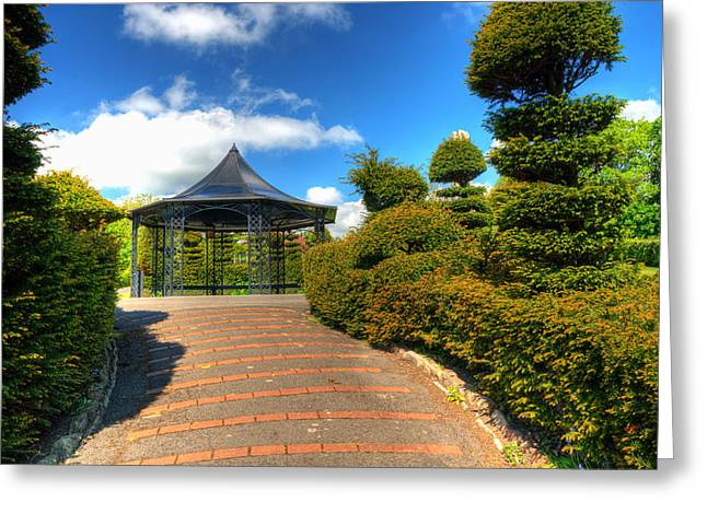 The Bandstand Greeting Card by Steve Purnell