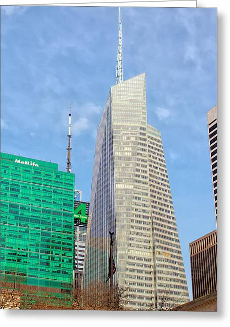 The Bank Of America Building Greeting Card by Artistic Photos