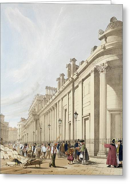 The Bank Of England Looking Towards Greeting Card by Thomas Shotter Boys