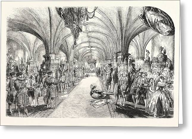 The Banquet In The Crypt Greeting Card by English School