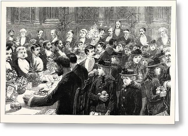 The Banquet Of The Benevolent Society Of St Greeting Card