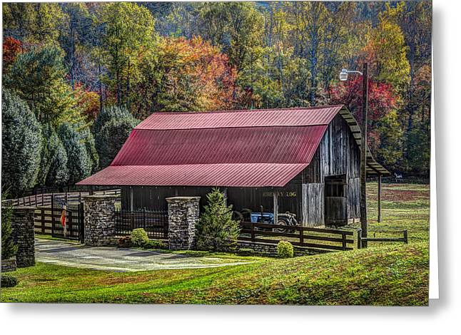 The Barn At Cherry Log Greeting Card