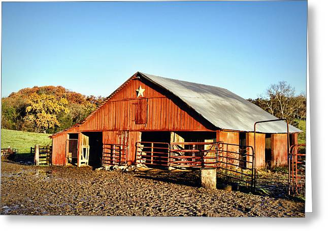 The Barn At Glenn Valley Farm Greeting Card by Cricket Hackmann