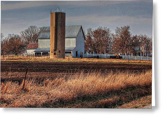 The Barn On The Hill Greeting Card by Karen McKenzie McAdoo