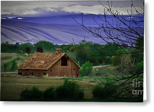 The Barn Greeting Card by Robert Bales