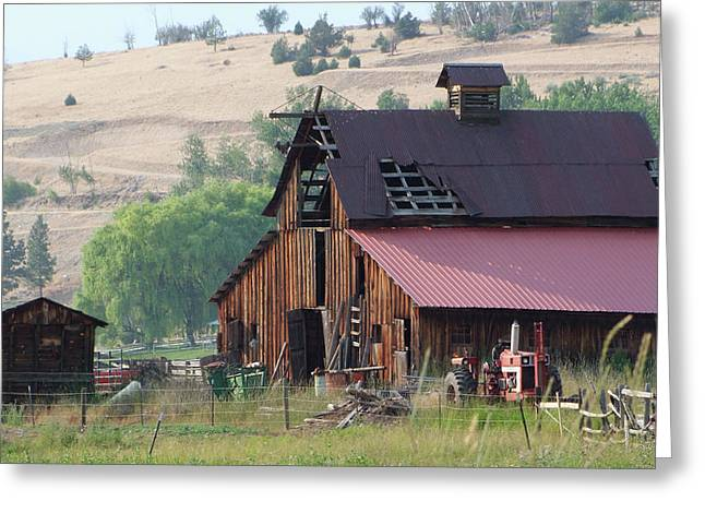 The Barn Greeting Card by Ron Roberts