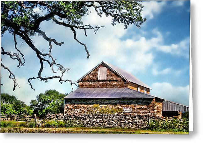 The Barn With Tin Roof Greeting Card