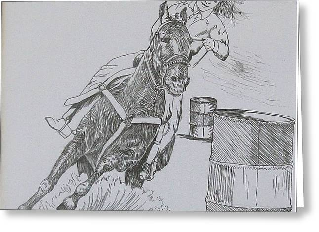 The Barrel Racer Greeting Card