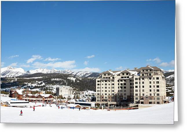 The Base Area At Big Sky Resort Greeting Card