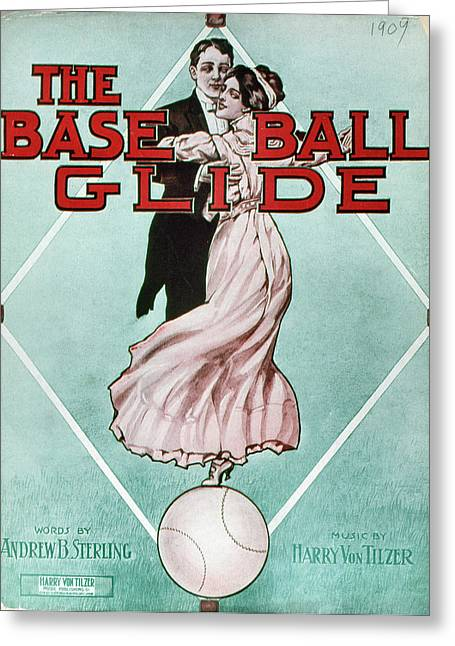 The Baseball Glide, 1909 Greeting Card by Granger