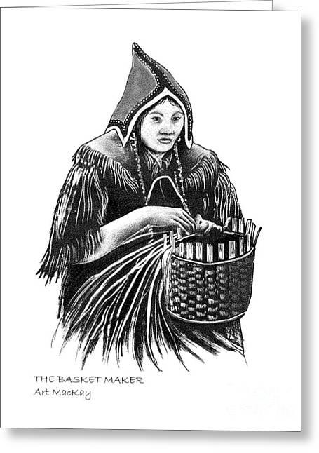 The Basket Maker Greeting Card