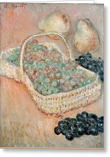 The Basket Of Grapes, 1884 Greeting Card by Claude Monet