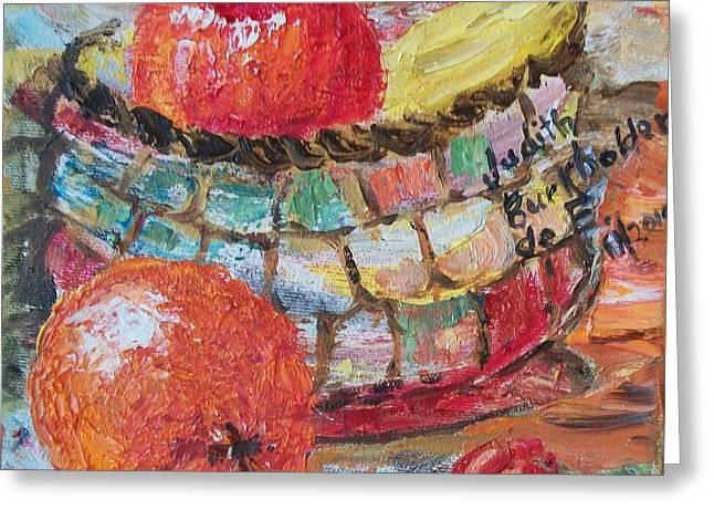 The Basket - Sold Greeting Card by Judith Espinoza