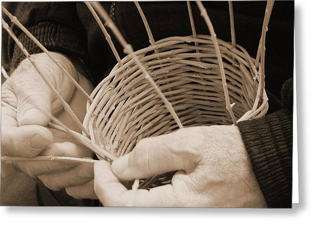 The Basket Weaver Greeting Card