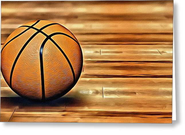 The Basketball Greeting Card by Florian Rodarte