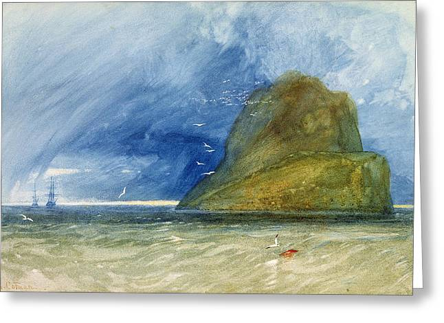 The Bass Rock, Scotland, C.1833-35 Greeting Card by John Sell Cotman
