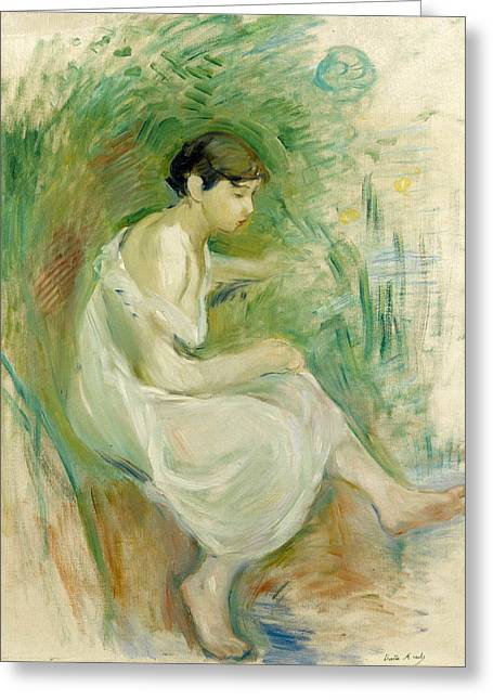 The Bather In Chemise Greeting Card