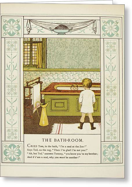 The Bathroom Greeting Card by British Library