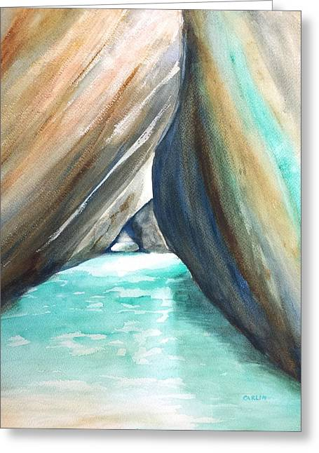 The Baths Turquoise Greeting Card