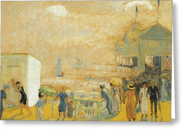 The Battery Greeting Card by William James Glackens
