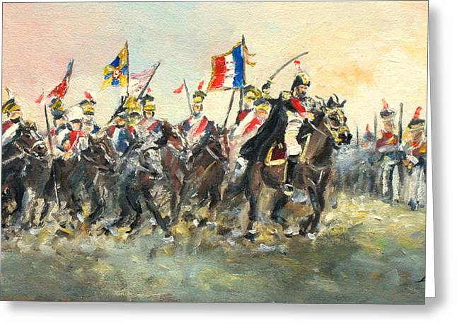 The Battle Of Austerlitz Greeting Card