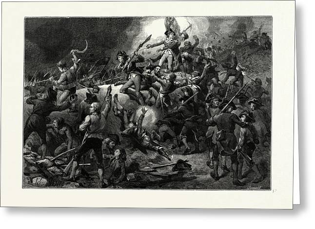The Battle Of Bunker Hill, June 17 Greeting Card