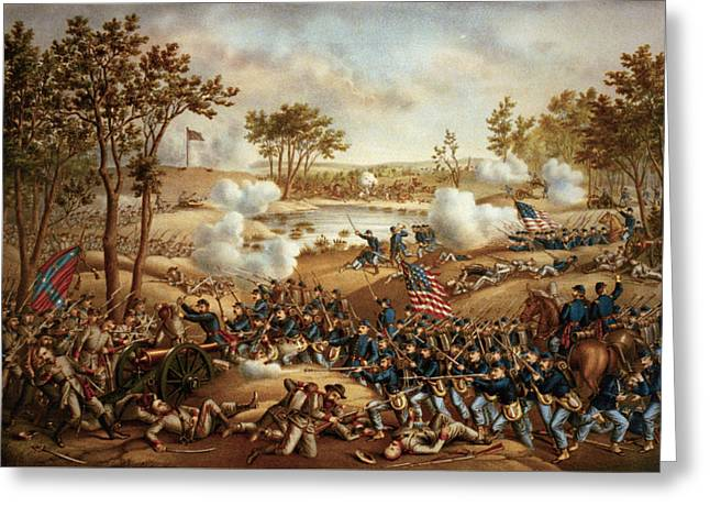 The Battle Of Cold Harbor Greeting Card by Kurz and Allison