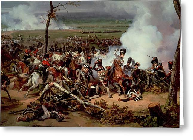 The Battle Of Hanau Greeting Card by Emile Jean Horace Vernet