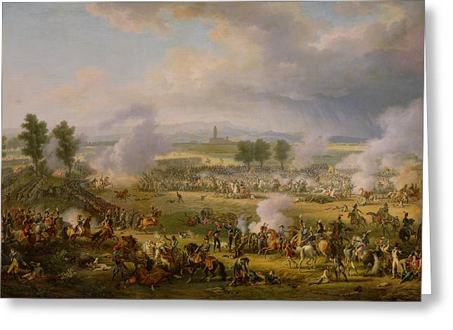 The Battle Of Marengo, 14th June 1800, 1801 Oil On Canvas Greeting Card by Louis Lejeune