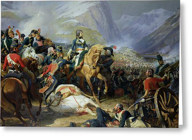 The Battle Of Rivoli, 1844 Oil On Canvas See Also 176686 Greeting Card by Felix Philippoteaux
